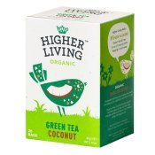 Higher Living Organic Green Tea Coconut 20p