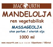 MacUrth Mandelolja 1000 ml