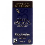Dark Chocolate Hazelnut & Currant 100g 60% EKO