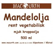 Macurth Mandelolja 500 ml