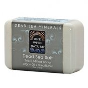 One With Nature Dead Sea Minerals Salt Soap Fragrance Free 200 g