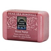 One With Nature Dead Sea Minerals Rose Petal Soap 200 g