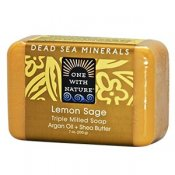 One With Nature Dead Sea Minerals Lemon Sage Soap 200 g