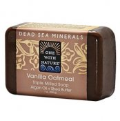 One With Nature Dead Sea Minerals Vanilla Oatmeal Soap 200 g