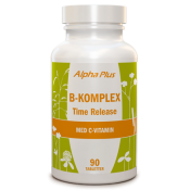 Alpha Plus B-komplex Time Release 90 tabletter