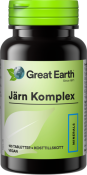 Great Earth Järn Komplex 25 mg 100 tabletter