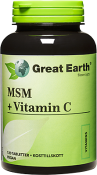 Great Earth MSM + Vitamin C 120 tabletter