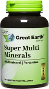 Great Earth Super Multi Minerals 90 tabletter