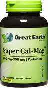 Great Earth Super Cal-Mag 600-300 mg 100 tabletter