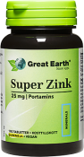 Great Earth Super Zinc 25 mg 100 tabletter