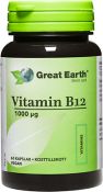 Great Earth Vitamin B12 1000 mcg 60 kapslar