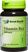 Great Earth Vitamin B-12 500 mcg Sublingual 60 tabletter