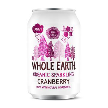 Whole Earth Sparkling Cranberry Eko 33cl