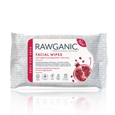 Rawganic Anti-aging Facial Wipes 25 wipes Eko