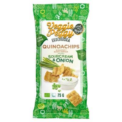 Veggie Peggy Quinoachips Sourcream & Onion 75g EKO