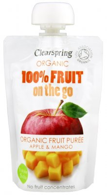 Clearspring Fruktpuré Äpple & Mango On the Go 120g EKO
