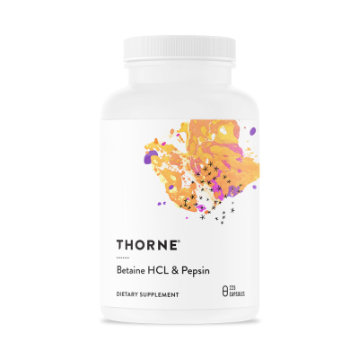Thorne Research Betaine HCL & Pepsin 225 kapslar