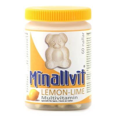 Minallvit Lemon-Lime Multivitamin 60 nallar