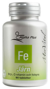 Alpha Plus MerVital Järn 90 tabletter