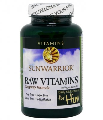 Sunwarrior Raw Vitamins For Him 90 kapslar