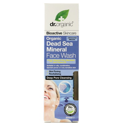 Dr.Organic Dead Sea Minerals Face Wash 200 ml