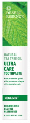 Desert Essence Ultra Care Toothpaste Mega Mint 176 g