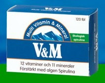 V&M Multi Vitamin & Mineral 120 tabletter