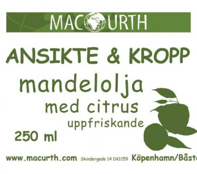 MacUrth Mandelolja Citrus 250 ml