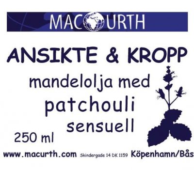 MacUrth Mandelolja Patchouli 250 ml