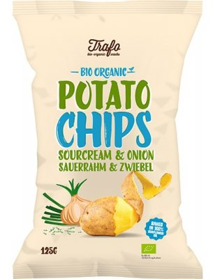 Trafo Chips sourcream & onion Eko 125 g