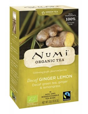 Numi Green Tea Decaf Ginger Lemon EKO 18 tepåsar