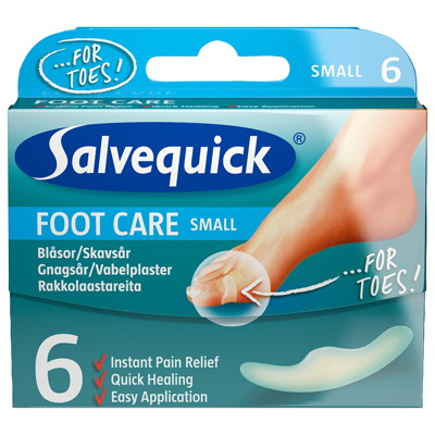 Salvequick Foot Care Skavsårsplåster Small Tå 6 st