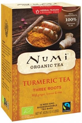 Numi Turmeric Tea Three Roots EKO 12 tepåsar