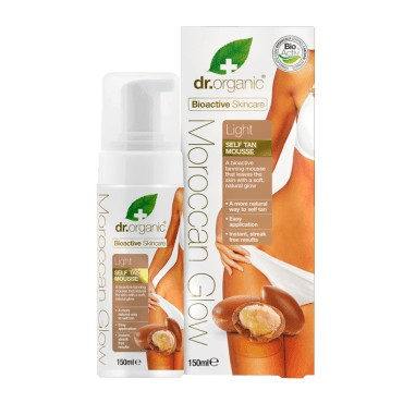 Dr.Organic Moroccan Glow Light Self Tan Mousse 150ml