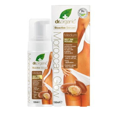 Dr.Organic Moroccan Glow Medium Self Tan Mousse 150 ml
