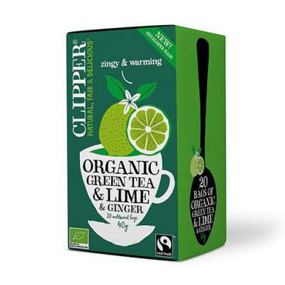 Clipper Green Lime and Ginger EKO 20p