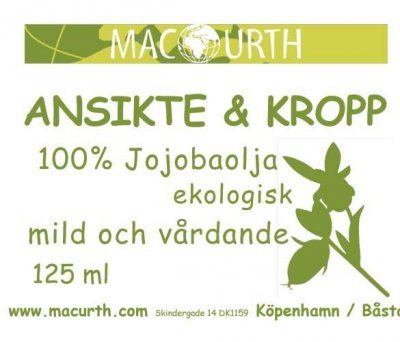 MacUrth Jojobaolja Eko 125 ml