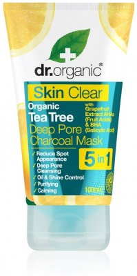 Dr.Organic Skin Clear Tea Tree Deep Pore Charcoal Mask 100 ml