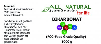 All Natural Scandinavia Bikarbonat 1 kg