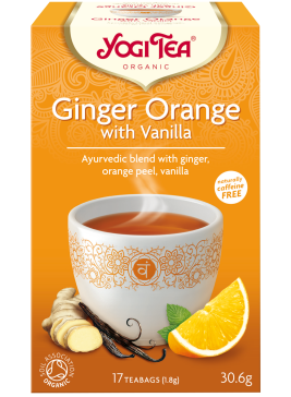 YogiTea Ginger Orange Vanilla EKO 17 tepåsar