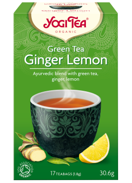 YogiTea Green Ginger Lemon EKO 17 tepåsar