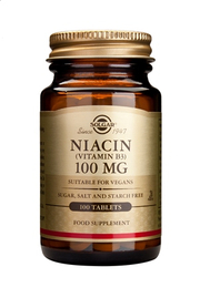 Solgar Niacin 100 mg 100 tabletter