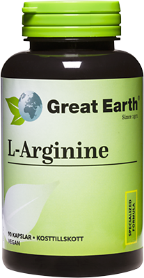 Great Earth L-Arginine 500 mg 90 Kapslar