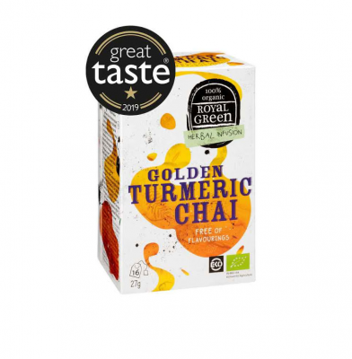 Royal Green Golden Turmeric Chai Eko 16p