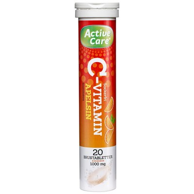 Active care C-Vitamin 1000 mg Apelsin 20 brustabletter